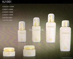 HJ1001 glass cream and lotion jar / bottle