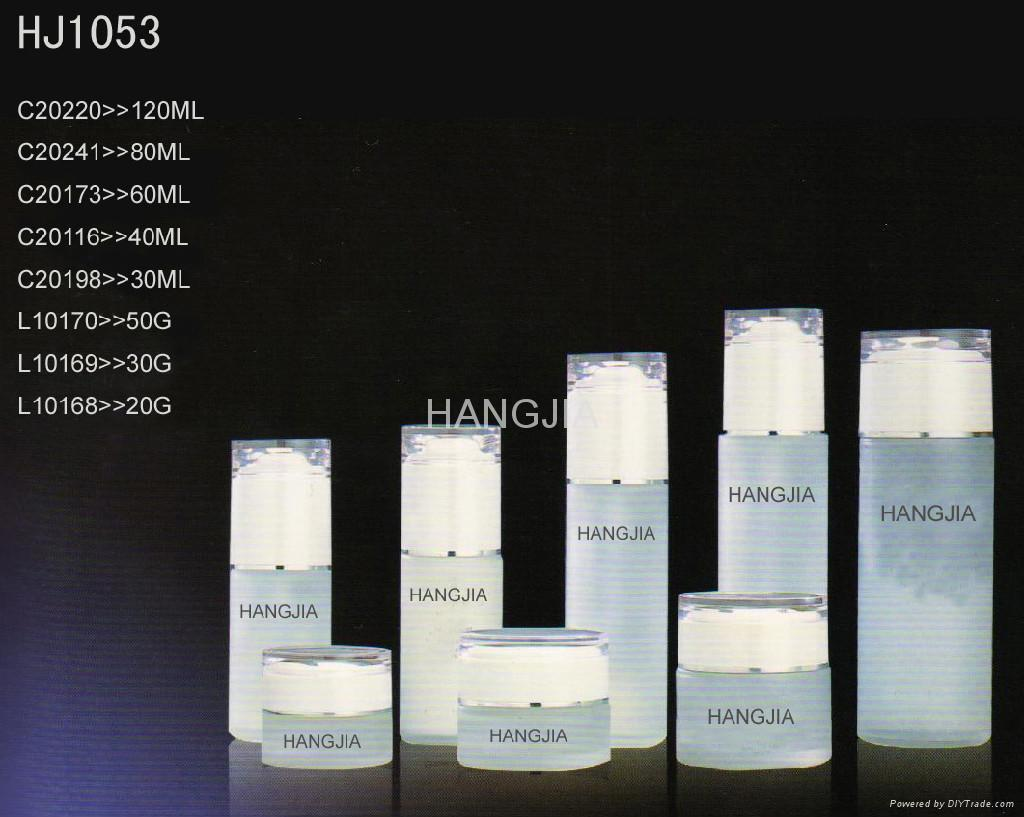 HJ1052glass cream and lotion jar / bottle 2