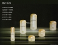 HJ1076   glass cream and lotion jar /