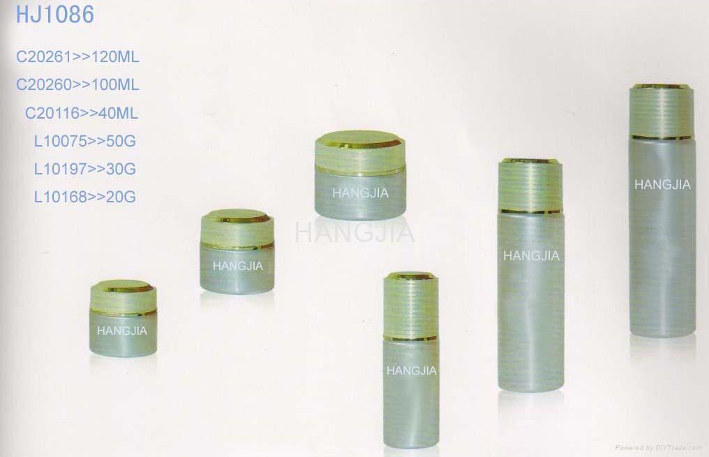 HJ1085   glass cream and lotion jar / bottle 2