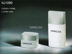 HJ1090   glass cream and lotion jar / bottle