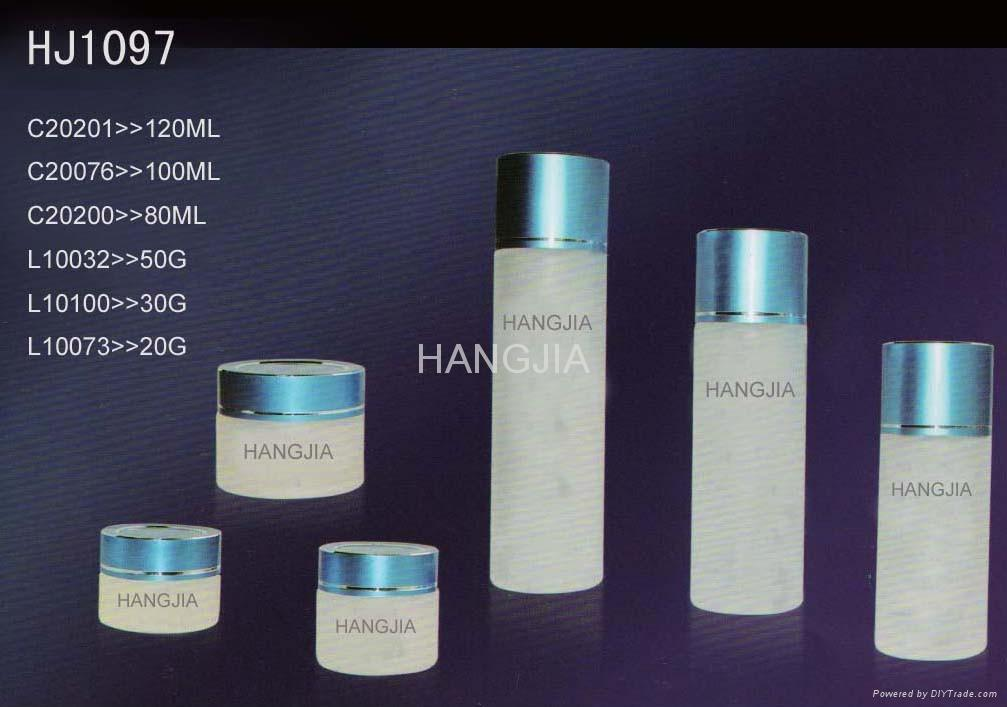 HJ1090   glass cream and lotion jar / bottle 4