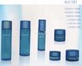 HJ1101   glass cream and lotion jar /