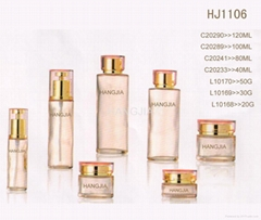 HJ1106   glass cream and lotion jar / bottle