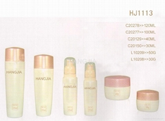 HJ1112  glass cream and lotion jar / bottle