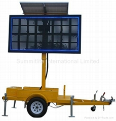 Portable LED Message sign Traffic sign Trailer