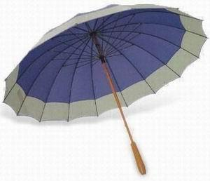 Promo Golf Umbrella with Metal Shaft and Wood Handle - 60""