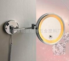 挂壁式酒店衛浴雙臂支杆LED燈單面美容化妝鏡