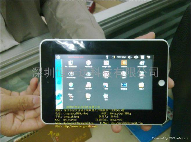 7寸觸摸屏帶wifi數碼相框帶攝像頭支持上網、即時聊天MID 1