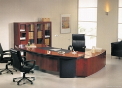 modern wood office executive desk