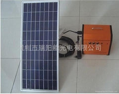 供应10w太阳能小系统可移动电源