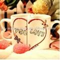 11 OZ Couple Mugs,Lover Mugs-Two Handles