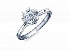 指纹结婚钻戒