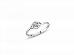 指纹婚戒指纹戒指18K白金婚戒情意连绵