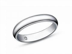 指纹婚戒指纹戒指18K白金婚戒爱无止境