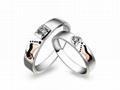 指纹婚戒指纹戒指18K分色对戒