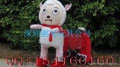 动物毛绒玩具电瓶车