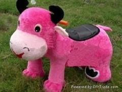 动物毛绒电瓶车