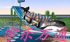 大型游乐设备,儿童游乐设施,冲浪鲸
