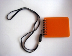 hardcover notebook with string