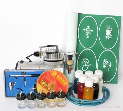 Airbrush tattoo starter kit starter kit golden phoenix for Airbrush tattoo kit