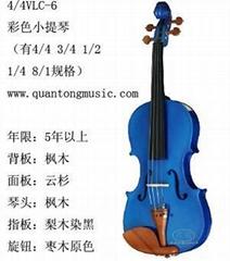 彩色小提琴VLC-6北京小提琴