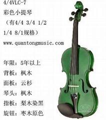 彩色小提琴VLC-7北京小提琴