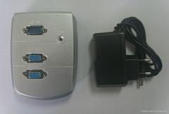 2 Port Wall Mount VGA Video Splitter