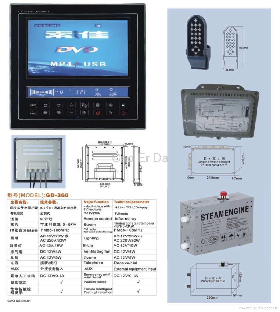 GD-360 Steam Room Controller With TV 3