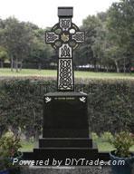 Shanxi Black cross granite tombstone  1