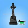 Shanxi Black cross granite tombstone  2