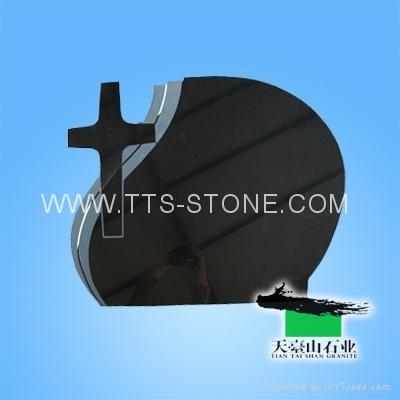 Shanxi Black cross granite tombstone  3
