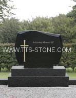Shanxi Black cross granite tombstone  5