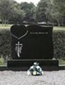 Ireland Hebeiblack granite headstone 2