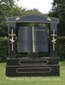 Ireland Hebeiblack granite headstone 4