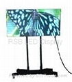 Mobile Moveable LED video display screen