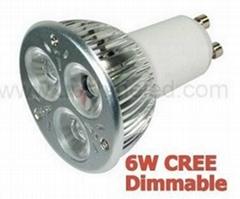 新款推廣可調光LED射燈GU10-3W/4W/6W