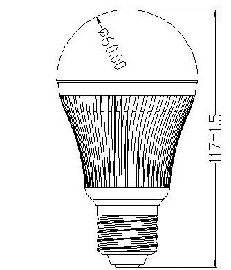 SZ新品大功率G60/7*1W调光球泡灯批发 5