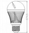 批发NTDX-BL5Wdimmable LED球泡灯红外遥控 5