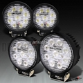 27W 12V Round Cree LED Work Light Flood 6500K ATV Tractor Bus 4W 4x4 Flood Beam