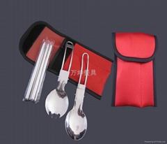 不锈钢折叠三件套餐具