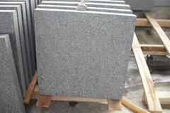 Flamed G654 padang dark granite tiles
