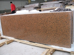 Polished Tianshan red granite slab