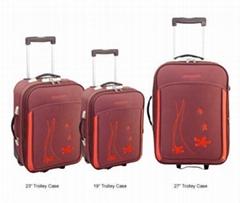 3-piece trolley luggage set