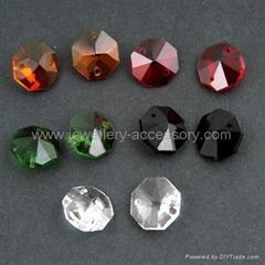 Crystal Octagon Pendants