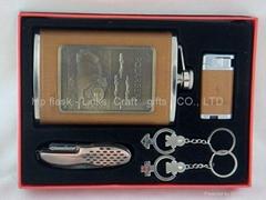 stainless steel hip flask set /flagon set