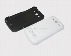 3200mAh Black External Backup Battery Case Charger for Samsung Galaxy S3 I9300