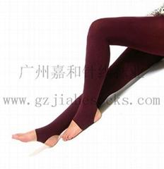 酒紅色踩腳褲襪