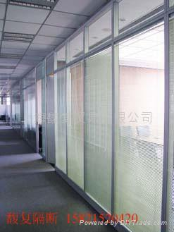 双玻百叶隔断-上海特价玻璃隔断 1
