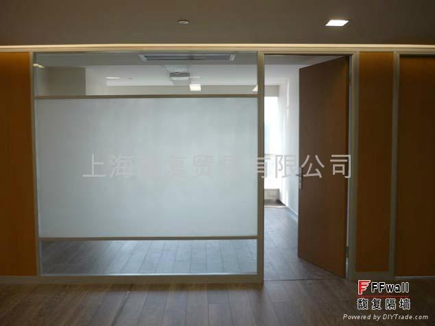 办公室双层玻璃隔墙 1